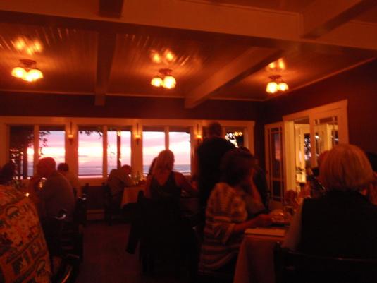 The Willows Inn restaurant
