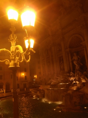 The Trevi Fountain at 2:30 am.