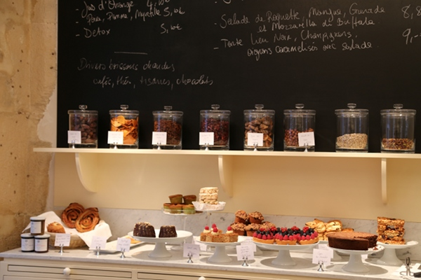 Pastries and daily specials on a chalkboard greet you at Claus.