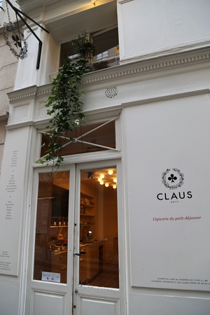 Claus' simple white exterior.