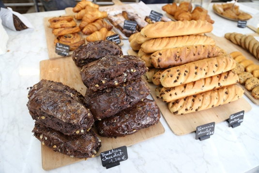Chocolate bread and other pastries at Liberté.