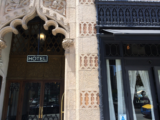 The New Ace Hotel's gothic facade.