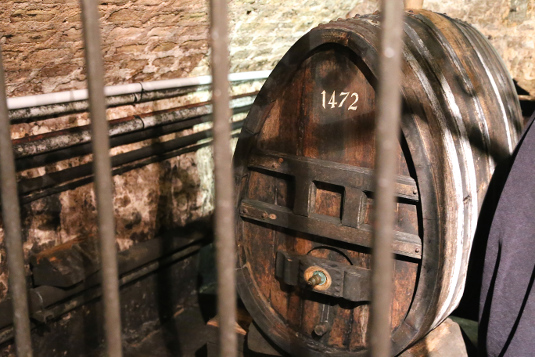 This barrel of wine is said to be the oldest in the world.