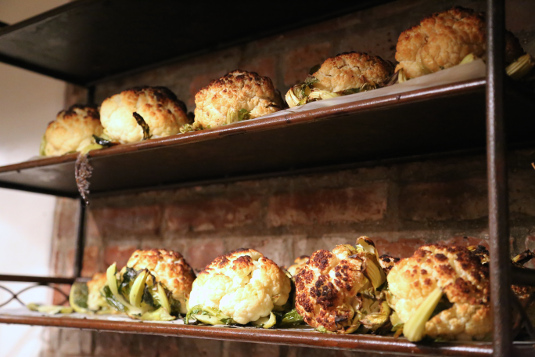 The Marais also has great vegetables like a whole roasted head of cauliflower.