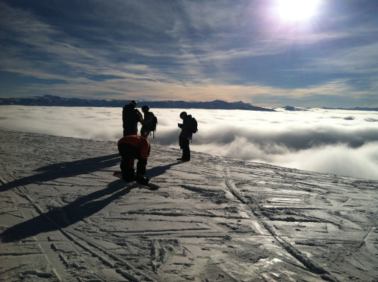 Jackson Hole has frequent inversions where the temperature on the mountain is warmer than in town.