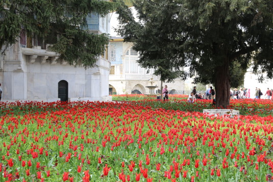 The grounds of Topkapi Palace in Istanbul.