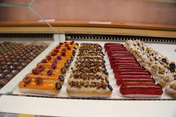 Colorful eclairs at L'Éclair de Genie in Paris
