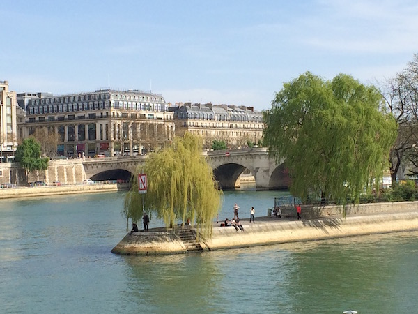 A view of the tip of Île de la Cité in Paris