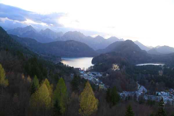 The view from Neuschwanstein.