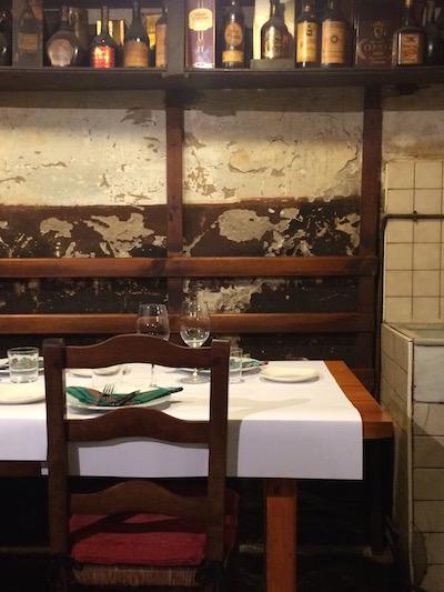 The rustic dining room at Casa Julian.