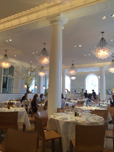 The elegant dining room at Spring.