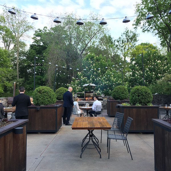 Outdoor dining at Blue Hill at Stone Barns.