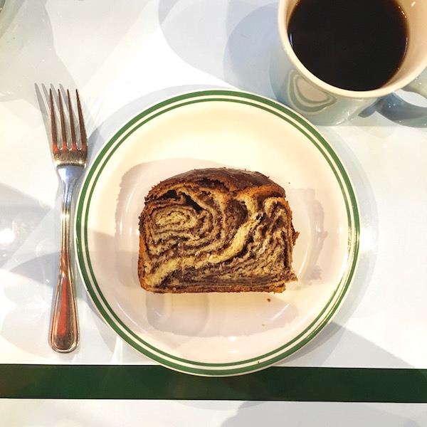 Saddle's delicious babka.