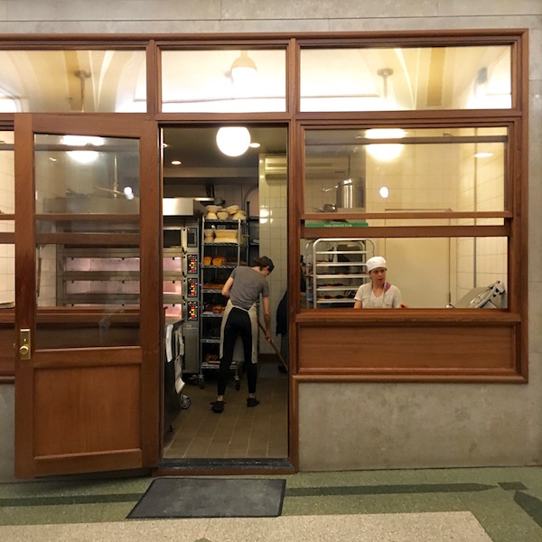 Arcade Bakery is located in an office building lobby.