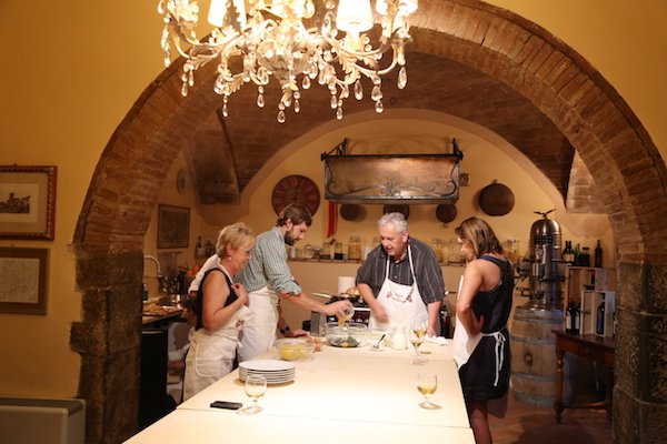 Image of the cooking class at Il Falconiere in Tuscany