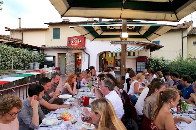 Image of diners at Officina della Bistecca in Chianti