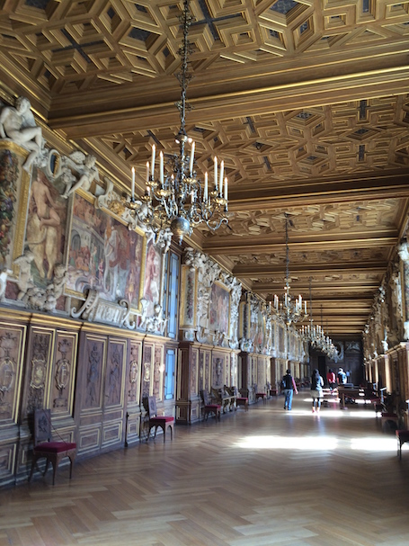 Image of the Francis I Gallery at Fontainebleau