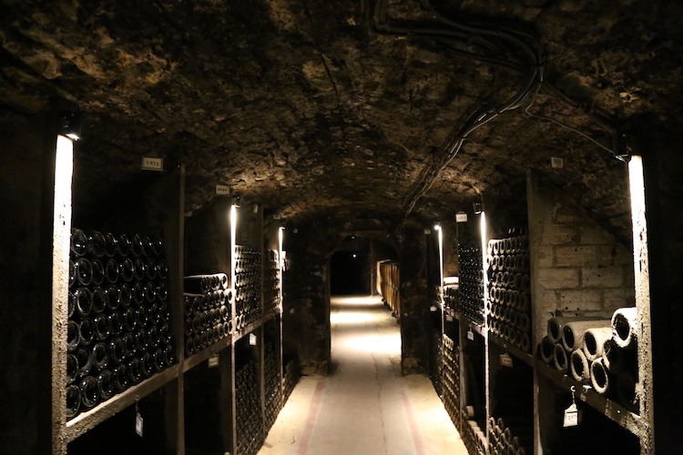 Image of the cellars of the Dukes of Burgundy in Beaune, France.