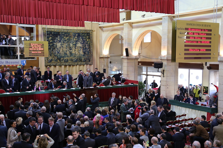 Image of the Hospices de Beaune Wine Auction.
