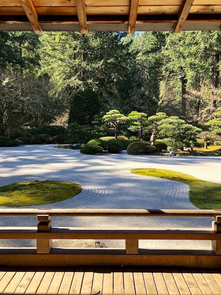 Image of the Japanese Gardens in Portland, Oregon