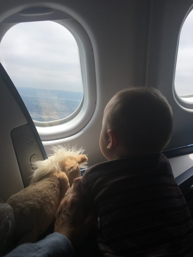 Image of a baby flying Delta Airlines to London