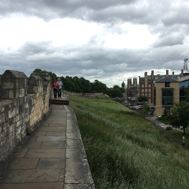 Image of the ramparts in York, England