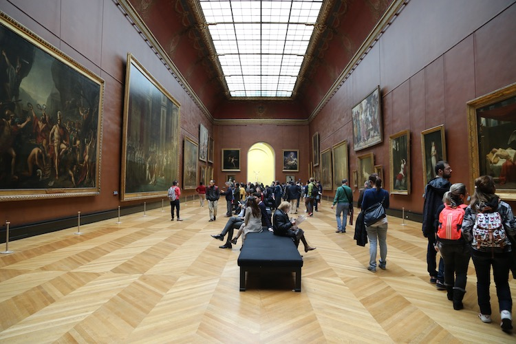 Image of room 75 at the Louvre in Paris