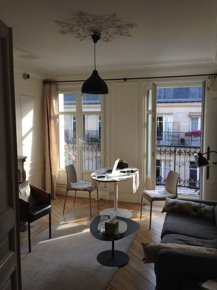A Parisian apartment with a balcony in the 4th arrondissement