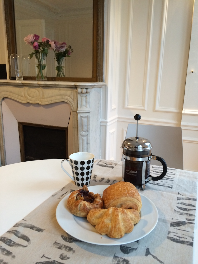 When you move to Paris you can have French press coffee and croissants every morning