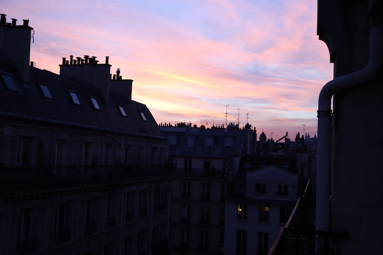 A sunset in Paris