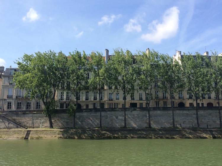 A view of Île Saint Louis in Paris