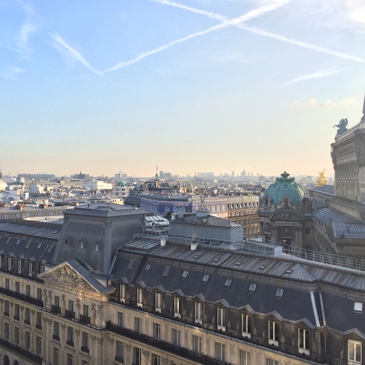 A view of Paris from the terrace of Galeries Lafayette
