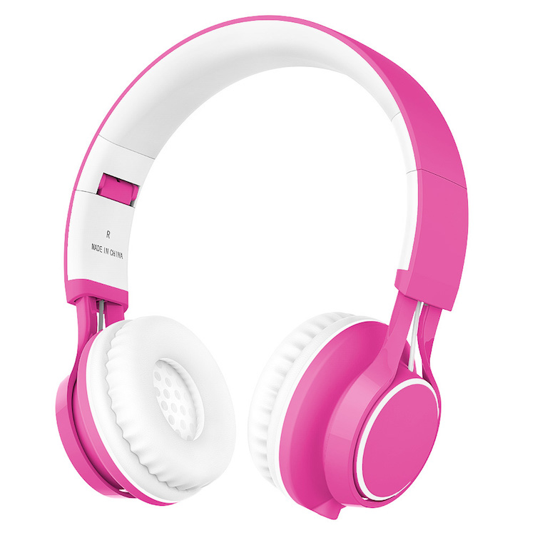 Image of Ailihen Kids Headphones in pink