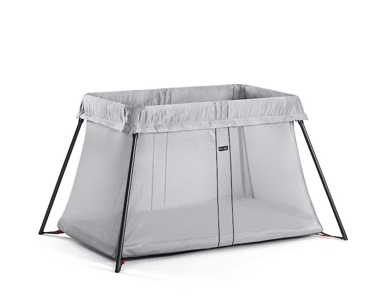 Image of Babybjorn travel crib in light silver