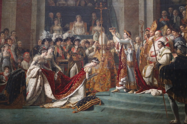 Image of the Coronation of Napoleon in the Louvre in Paris