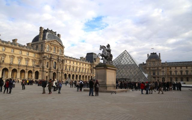The Louvre courtyard in Paris
