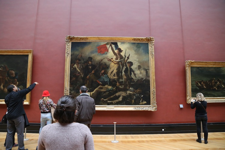 Image of Liberty Leading the People in the Louvre in Paris