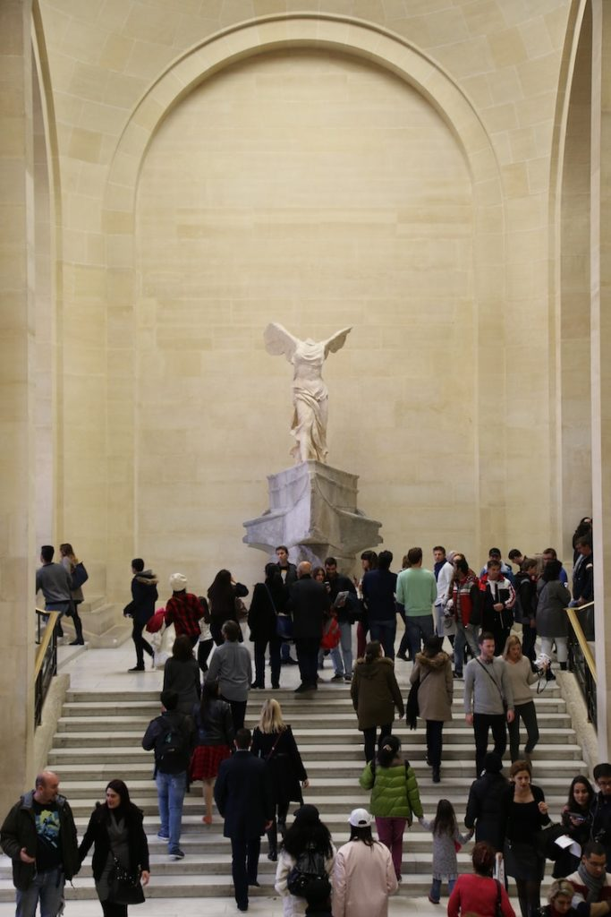 Image of the Winged Victory of Samothrace in the Louvre in Paris