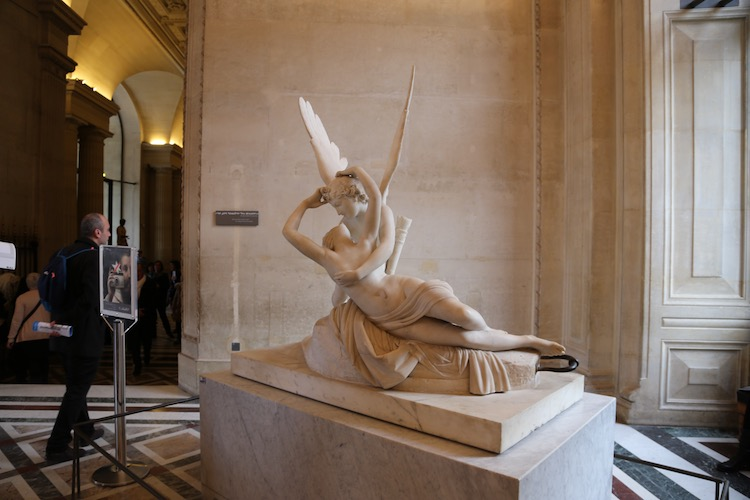 Image of Psyche Revived by Cupid's Kiss in the Louvre in Paris