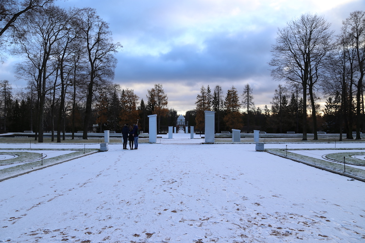 Image of the grounds of Catherine Palace outside Saint Petersburg