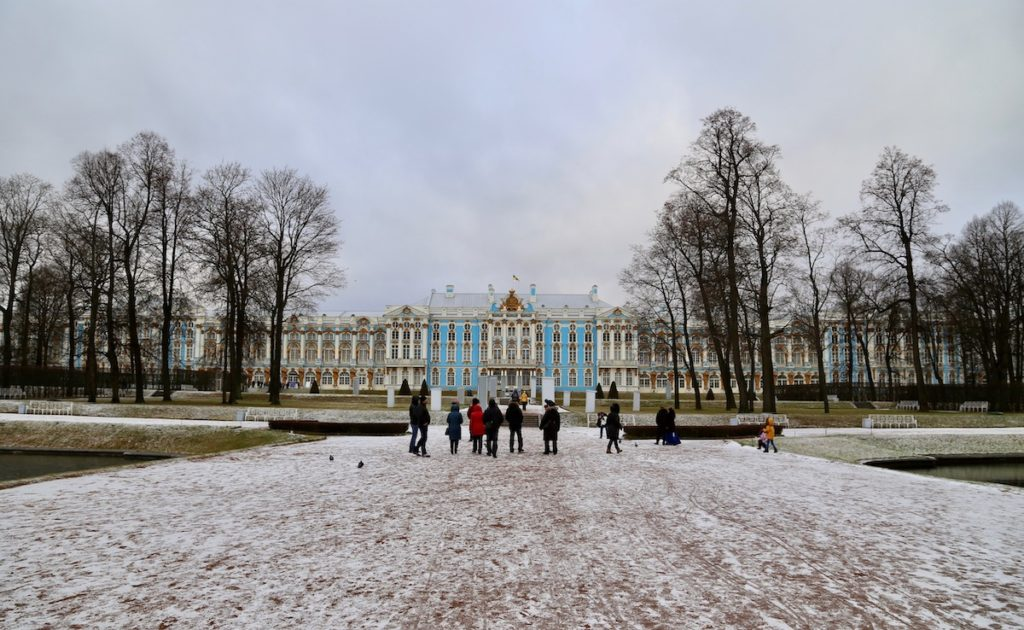 Image of Catherine Palace outside of Saint Petersburg