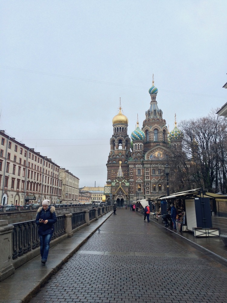 Image of the Church of the Savior on Spilled Blood, one of Saint Petersburg's main attractions