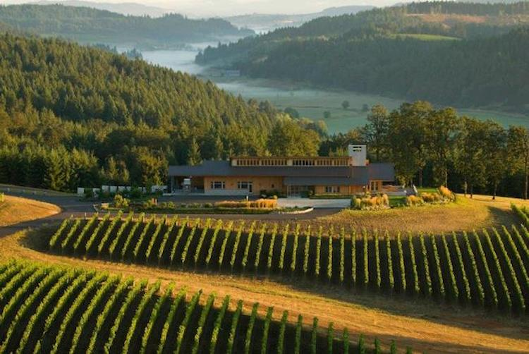 Image of the Penner-Ash winery and tasting room in Oregon's Willamette Valley