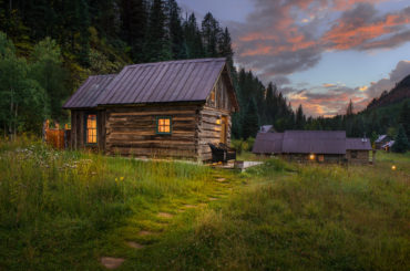 A Cabin at Dunton Hot Springs in Colorado